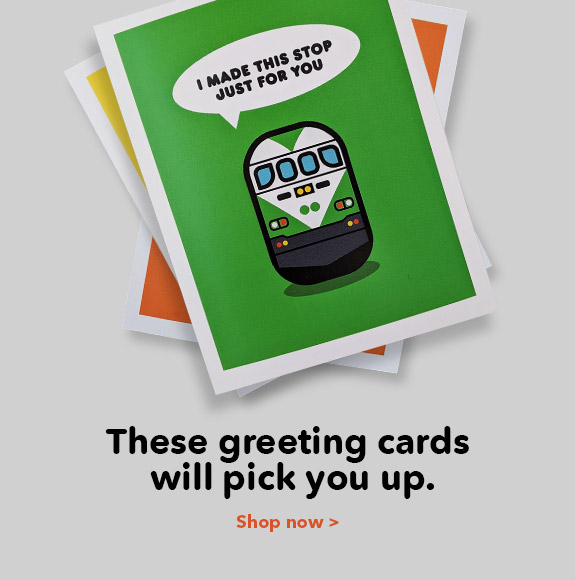 These greeting cards will pick you up.
